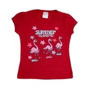 Blusa Infantil Flamingos Vermelho