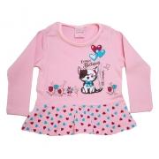 Blusa Infantil Gatinho Rosa