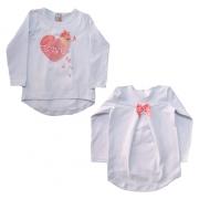 Blusa Infantil Love Branco