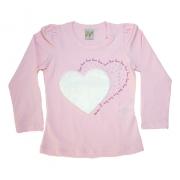 Blusa Infantil Love Rosa