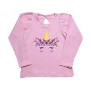 Blusa Infantil Unicórnio Rosa