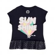 Blusa Juvenill Sun Shine Marinho