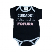 Body Bebê Alto Nível De Fofura Preto