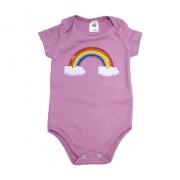 Body Bebê Arco Íris Rosê