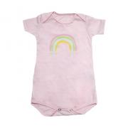 Body Bebê Arco-Íris Rosa