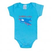 Body Bebê Avião Azul