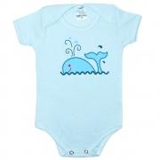 Body Bebê Baleia Azul