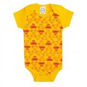 Body Bebê Carrinhos Amarelo