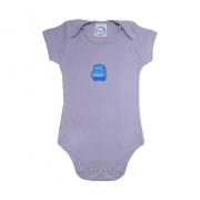 Body Bebê Carro  Cinza