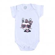 Body Bebê Cat Branco