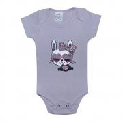 Body Bebê Cat Cinza