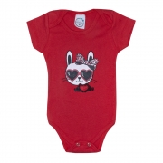 Body Bebê Cat Vermelho