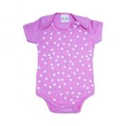 Body Bebê Corações Pink