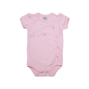 Body Bebê Coroa Rosa