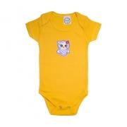 Body Bebê Coruja  Amarelo