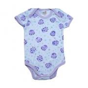 Body Bebê Coruja Branco e Lilás