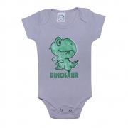 Body Bebê Dino Cinza