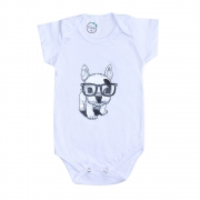 Body Bebê Dog Branco