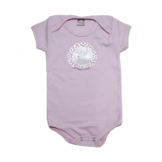 Body Bebê Elefante Rosa