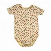 Body Bebê Florzinhas Amarelo
