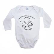 Body Bebê Frase Adivinha Quem Vai Ser Vovó Branco