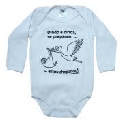 Body Bebê Frase Dindo e Dinda se Preparem Branco