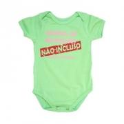 Body Bebê Frase Manual Não Incluso  Verde