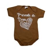 Body Bebê Frase Presente De Deus Caramelo