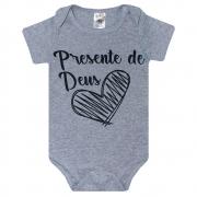 Body Bebê Frase Presente De Deus Mescla