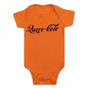 Body Bebê Frase Quero Colo Laranja