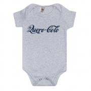 Body Bebê Frase Quero Colo Mescla