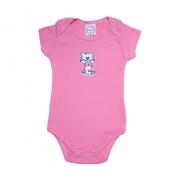 Body Bebê Gatinha  Rosa