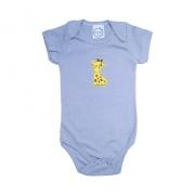 Body Bebê Girafa  Cinza