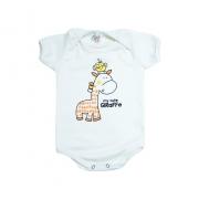 Body Bebê Girafa e Passarinho Pérola