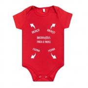 Body Bebê Instruções Para o Papai Vermelho