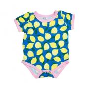 Body Bebê Limão Azul Com Amarelo