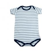 Body Bebê Listras Branco