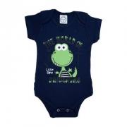 Body Bebê Little Dino Preto
