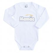 Body Bebê Manga Longa Amo Minha Mamãe Branco