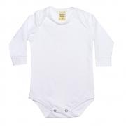 Body Bebê Manga Longa Branco