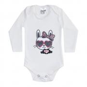 Body Bebê Manga Longa Cat Pérola
