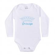 Body Bebê Manga Longa Príncipe Branco