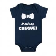 Body Bebê Meninas Cheguei Marinho