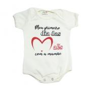Body Bebê Meu 1ºDia Das Mães Pérola
