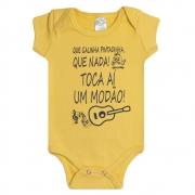 Body Bebê Modão Amarelo