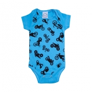 Body Bebê Motos Azul