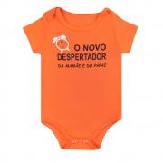 Body Bebê Novo Despertador Laranja