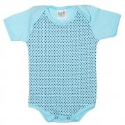 Body Bebê Poá Azul