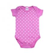 Body Bebê Poá Pink