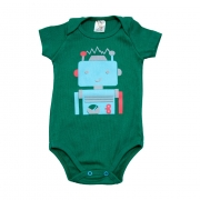 Body Bebê Robô  Verde
